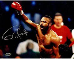 Roy Jones Jr. Signed Celebrating vs. Virgil Hill 16x20 Horizontal Photo