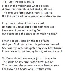 The Face In The Mirror...Baby Loss, Grief, Stillbirth