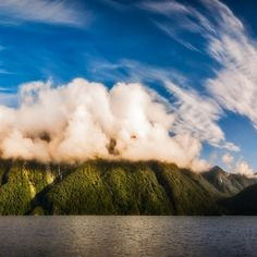 25% Wall Art: Use code DREAM25 Expires June 21, 2018, at 11:59 pm Amazing cloud formation at Lake Manapouri in New Zealand