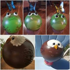 My little bowling ball critters I made.