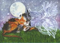 ACEO - Visit From An Old Friend by KootiesMom  http://kootiesmom.deviantart.com/art/Missing-You-2-199203879