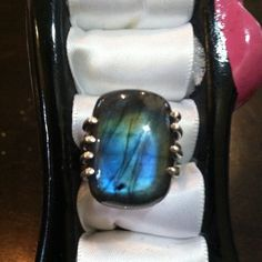 FLASH SALRAwesome Finnish Labradorite Ring, S7 Beautiful Finnish Spectrolite Labradorite in a size 7 Jewelry Rings