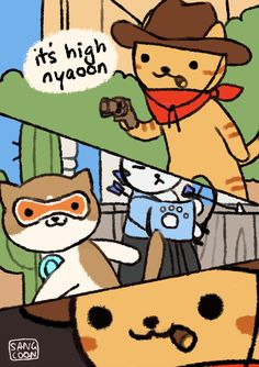 overwatch: nekcree by Sangcoon on DeviantArt Overwatch Comic, Overwatch Memes, Overwatch Fan Art, Before I Forget, Soldier 76, Neko Atsume, Only Play, Trap, Funny Games
