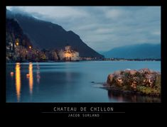 Chateau de Chillon on the outskirts of Montreux in Switzerland and on the shores of Lake Geneva.