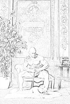 Galen Chronicles Of Nick, Cool Artwork, Amazing Artwork, Sherrilyn Kenyon, Dark Hunter, Hunters, The Darkest, Sketches, Album