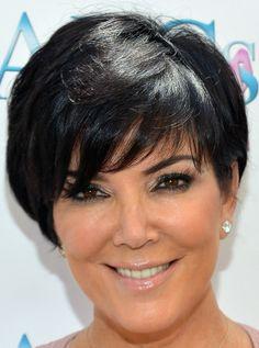 Kris Jenner Short cut with bangs - Short Hairstyles Lookbook - StyleBistro