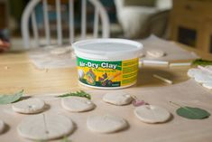 Air Dry Clay for clay leaf prints