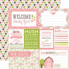 Echo Park - Bundle of Joy New Addition Collection - Girl - 12 x 12 Double Sided Paper - Welcome Baby Girl at Scrapbook.com