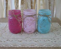 Shabby Rustic Mason Jars!