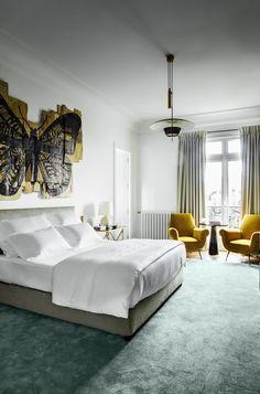 5 rooms, 5 styles: a Parisian apartment signed Luis Laplace. Best Interior, Luxury Interior, Contemporary Interior, Bedroom Themes, Bedroom Decor, Bedrooms, Bedroom Ideas, Design Bedroom, Bespoke Furniture