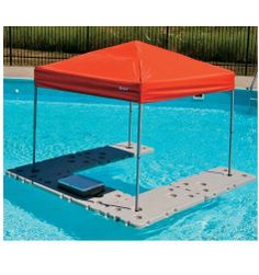 FLOATING SHADE CANOPY TABLE River Pool Lake PARTY Cooler Storage Drink Holder