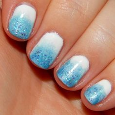 Nail Art Fun: Frost Nails | See more at http://www.nailsss.com/...