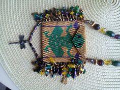 Peyote purse necklace made for a trip to ixtapa