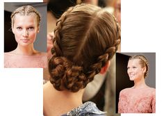 maiden hairstyle, not too complicated yet romantic. from Elie Saab 2012 F/W
