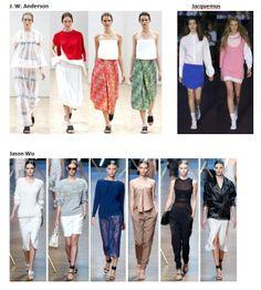 My favourite styles of Spring Summer 2014 COLLECTION apparel, shoes and make up by J. W. Anderson, Jacquemus, Jason Wu ------- i miei preferiti della COLLEZIONE moda Primavera Estate 2014 abbigliamento scarpe accessori e trucco