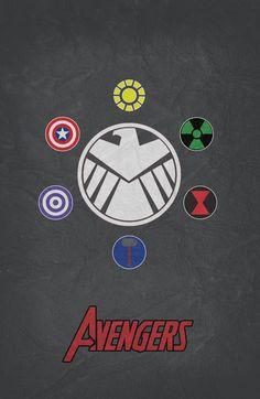 #Avengers #Minimalist #Poster
