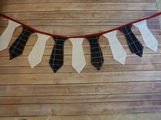 Plaid Navy White and Red Tie Banner or Garland  by sewsueprops, $30.00