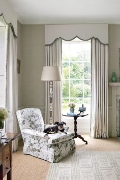 floor to ceiling windows, traditional window treatments