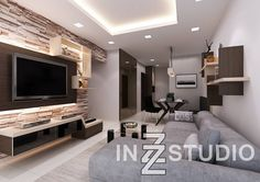 Get free interior design ideas for your HDB, BTO, condo or landed homes. Browse over 700 design ideas from Singapore designers. Interior Design Institute, Interior Design Singapore, Studio Living, Hall Design, Bathroom Interior Design, House Painting, Warm And Cozy, Living Area, Living Room Designs