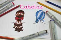 TUTORIAL Como Desenhar + Pintar Cabelos de Costas