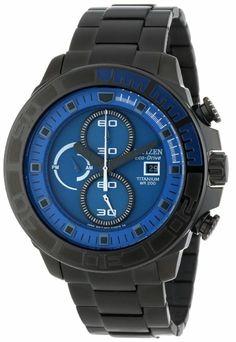 Citizen Men's CA0525-50L Eco-Drive Super Titanium Blue Dial Watch: Watches