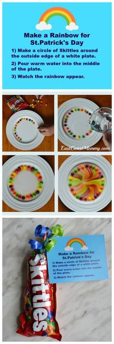 This is the best St.Patrick's Day activity for kids of all ages. Grown-ups w… This is the best St.Patrick's Day activity for kids of all ages. March Crafts, Spring Crafts, Saint Patrick, Preschool Activities, Rainbow Activities, Preschool Books, Activities For Children, Preschool Weather, Elderly Activities