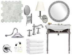 Hotel to Home White Bathrooms, Cabana, Palazzo, Inspired, Mirror, Furniture, Home Decor, Decoration Home, Room Decor