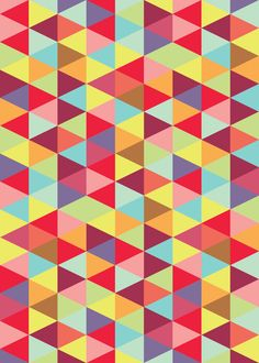 Colorful Triangle Pattern.