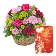 Basket bouquets with Cards