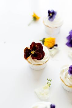 ... passion fruit cupcakes with marscapone frosting ...