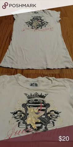 Juicy couture graphic tee Super cute design Juicy Couture Tops Tees - Short Sleeve