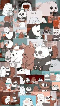 Wallpaper Funniest: We Bare Bears Fan Art Cute Panda Wallpaper, Cartoon Wallpaper Iphone, Disney Phone Wallpaper, Bear Wallpaper, Kawaii Wallpaper, Cute Wallpaper Backgrounds, Galaxy Wallpaper, Screen Wallpaper, Vintage Wallpaper