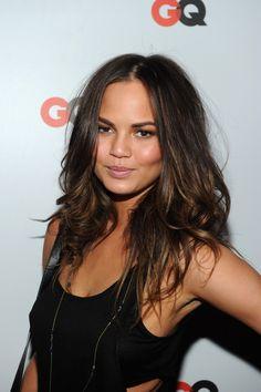 Best Hair Highlights for Olive Skin Tone #haircolors #hairstyles #chrissyteigen