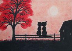#Romantic #cats #card: ttps://www.etsy.com/uk/listing/220502703/cats-card-romantic-art-card-wedding-card?ref=shop_home_active_13
