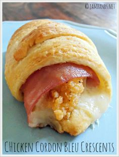 Chicken Cordon Bleu Crescents