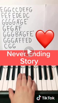 How to play Never Ending Story from Stranger Things on Piano.-How to play Never Ending Story from Stranger Things on Piano How to play Never Ending Story from Stranger Things on Piano - Piano Sheet Music Letters, Piano Music Easy, Clarinet Sheet Music, Music Chords, Mood Songs, Music Mood, Stranger Things Song, Keyboard Piano, Piano Tutorial