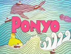 Ponyo.....need more pics of opening credits.I like this style for wall mural.