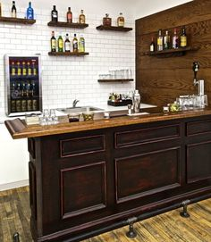 57 Fabulous Home Bar Designs You'll Go Crazy For. Decorating your ideal home bar design. Consider yourself lucky if you've got your own home bar – it's a perfect social gathering spot that's. Man Cave Home Bar, Bars For Home, Diy Basement, Home Bar Plans, Home Bar Designs, Home, Home Diy, Bar Design, Building A Home Bar