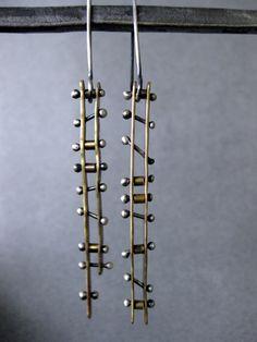Ladder Earrings by JLMerrillMetals on Etsy, $90.00