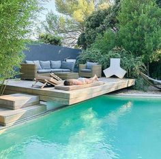Your pool is all about relaxation. Nonetheless, the pool is really cool by itself and it sure is inviting. Swimming pool and landscape design computer. pool is all about relaxation. Nonetheless, the pool is really cool by itself and it sure is inviting. Backyard Pool Designs, Swimming Pools Backyard, Swimming Pool Designs, Backyard Patio, Backyard Landscaping, Pool Decks, Small Pool Backyard, Landscaping Ideas, Backyard Privacy