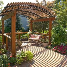 Pergola ideas on pinterest pergolas pergola designs and for Pergola images houzz
