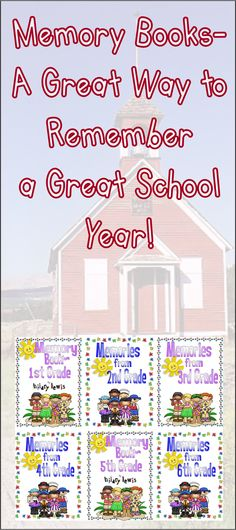 1st-6th grade End of the School Year Memory Books-Great for your kids to create a way to remember their school year. https://www.teacherspayteachers.com/Store/Hilary-Lewis/Category/Year-End-Memories