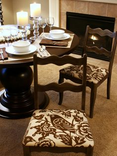 Needed to find a good pin on how to recover my dining chairs in my kitchen. This is perfect!