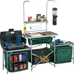 This Camping Kitchen Is A Deluxe Outdoor Set With E For Food Prep The Coleman Can Be Folded Into Compact Carrying Case