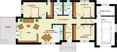 Proiecte de case la campie. Trei exemple frumoase si spatioase - Case practice Floor Plans, Design, Decor, Decoration, Decorating, Floor Plan Drawing, House Floor Plans, Deco