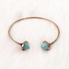 "New turquoise cone bangle bracelet Size 2.5"" / size M-L / shop priscillama.com for free shipping Jewelry Bracelets"