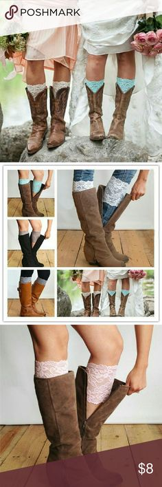 Lace boot cuffs New lace boot cuffs. One size fits most. Accessories Hosiery & Socks