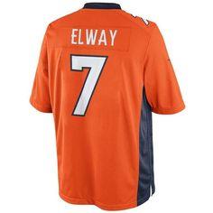 John Elway Unsigned Denver Broncos Orange Nike Limited Jersey Size Medium