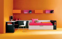 Top 15 artistic Junior room Interior Cool colourful design Inspirations    1. study room kids interior decorating