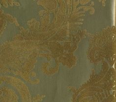 Gold & Gold Matte Heirloom Damask Velvet Flocked Wallcovering design by Burke Decor Flock Wallpaper, French Wallpaper, Velvet Wallpaper, Wall Wallpaper, Pattern Wallpaper, Beautiful Wallpaper, Wallpaper Ideas, Modern Wallpaper Designs, Custom Wallpaper